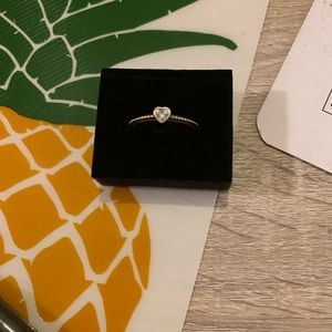 Pandora One Love Ring Clear New Retired
